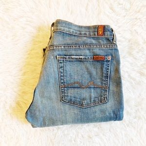 7 For All Mankind Button Up Boycut jeans SZ32